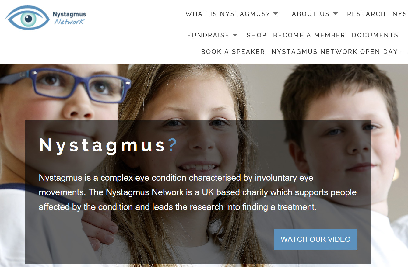 Screenshot Nystagmus Network Webseite